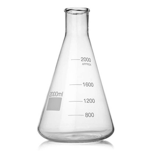 2000 ml Erlenmeyer Fermenter Flask