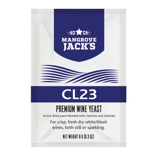 Mangrove Jack's Wine Yeast - CL23 8g treats 23L Dry White Blush Sparkling
