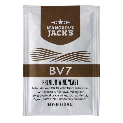 Mangrove Jack's Wine Yeast - BV7 8g treats 23L Dry and Sweet White Wines