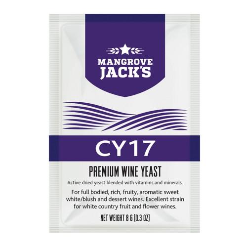 Vintner's Harvest Wine Yeast - CY17 8g treats 23L Sweet White Blush Dessert