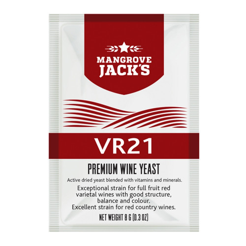 Mangroves Jack's Wine Yeast - VR21 8g treats 23L Full Fruit & Country Reds