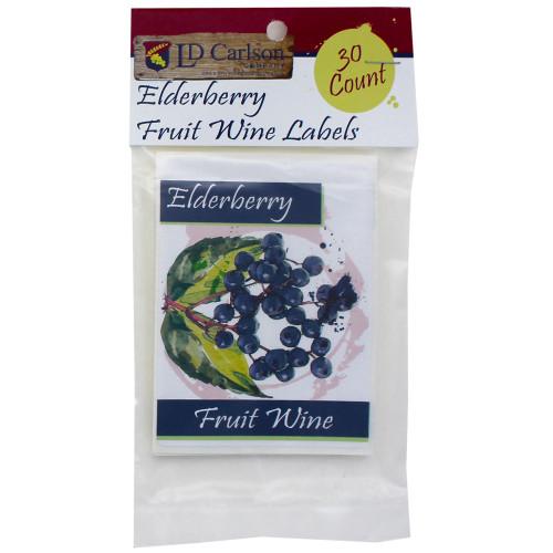 Elderberry Fruit Wine Labels