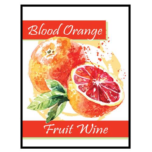 Blood Orange Fruit Wine Labels