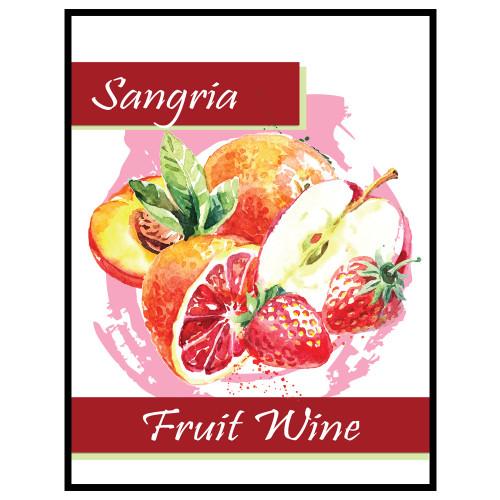 Sangria Fruit Wine Labels