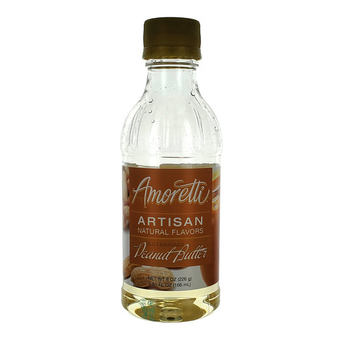 Amoretti Artisan Fruit Puree Old Fashioned Peanut Butter 8 Oz
