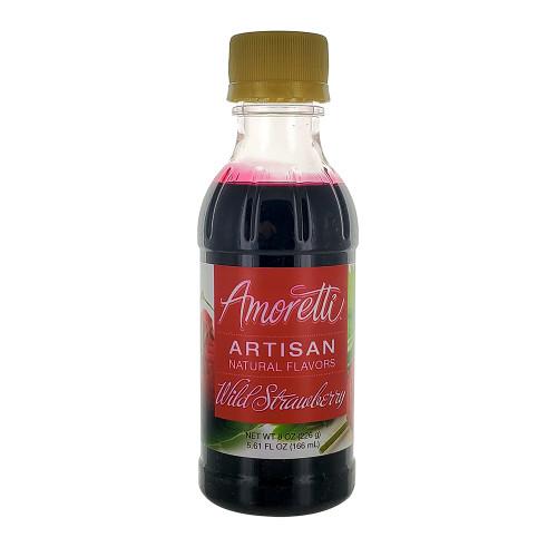 Amoretti Artisan Fruit Puree Wild Strawberry 8 Oz