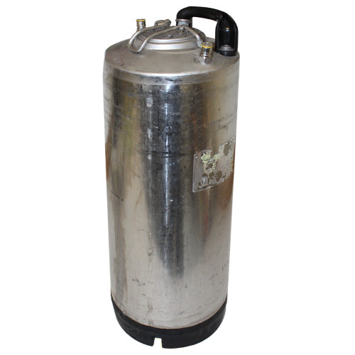 Single Handle Ball Lock Corny Keg, 5 Gallon, Used Factory Reconditioned