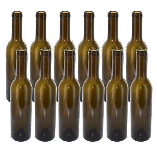 375 ml Green Semi-Bordeaux Bottles 1 cases of 12 (12 bottles)