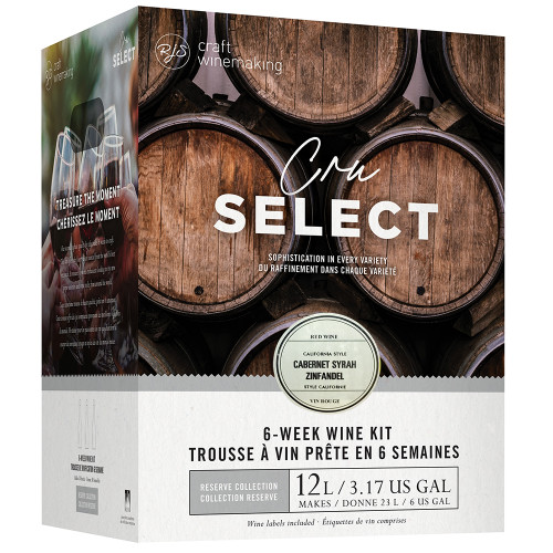 Wine Ingredient Kit - CRU SELECT California Style Cabernet Syrah Zinfandel
