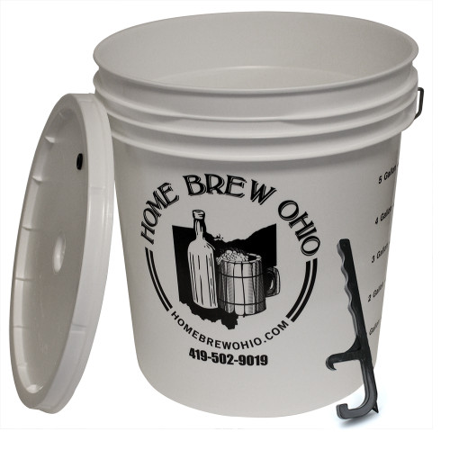 7.9 Gallon Plastic Fermenter With Lid And Pail Opening Tool