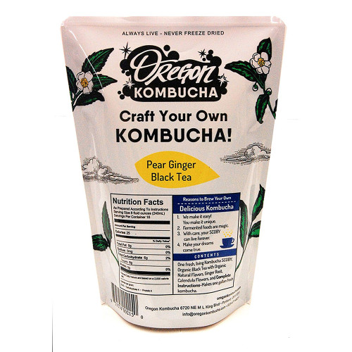Oregon Kombucha Organic Pear Ginger Black Tea - 1 Gallon Kombucha Starter Kit