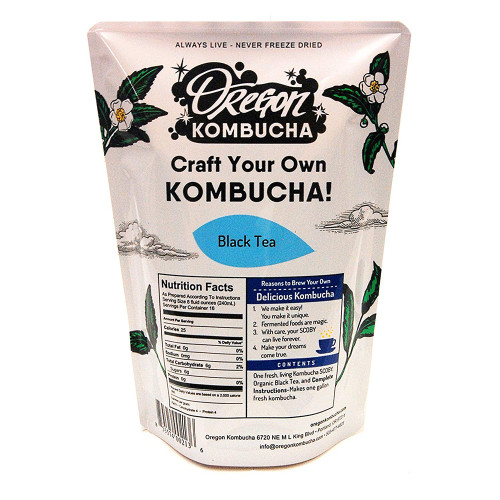 Oregon Kombucha Organic Black Tea - 1 Gallon Kombucha Starter Kit