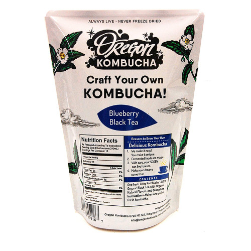 Oregon Kombucha Organic Blueberry Black Tea - 1 Gallon Kombucha Starter Kit