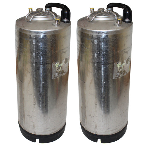 Single Handle Ball Lock Corny Keg, 5 Gallon, Used Factory Reconditioned (Set of 2)