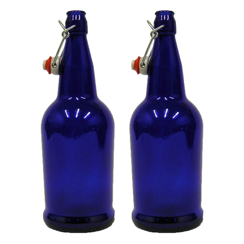 2 X 32 oz. Cobalt Blue EZ Cap Kombucha Bottle