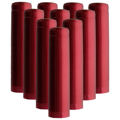 PVC Heat Shrink Capsules For Wine Bottles - Ruby Red  100 count