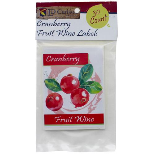 Cranberry Fruit Wine Labels