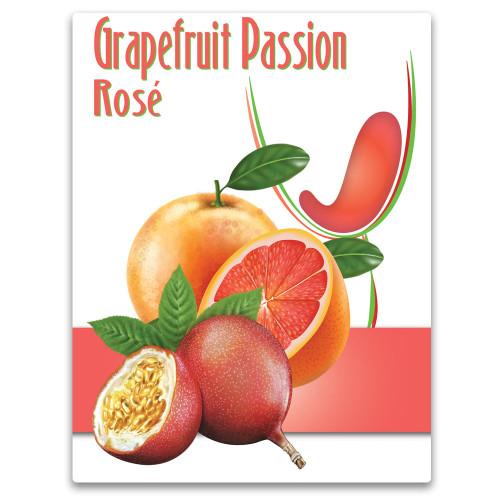 Wine Labels - Grapefruit Passion Rosé Wine Labels