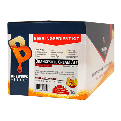 Brewer's Best Orangesicle Cream Ale Five Gallon Beer Making Ingredient Kit