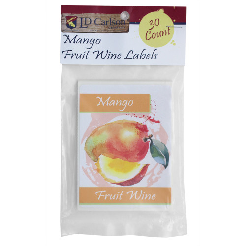 Mango Fruit Wine Bottle Labels