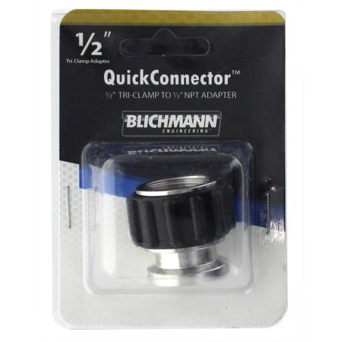 "Blichmann QuickConnector Tri-Clamp Adapter - .5"" TC x .5"" NPT"