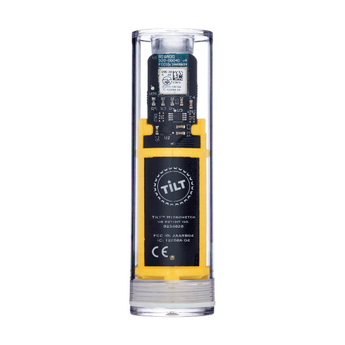 Tilt Digital Wireless Hydrometer And Thermometer For Smartphone Or Tablet (Yellow)