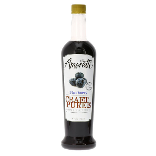 Amoretti Craft Puree Blueberry, 750ml, 25.4 Fluid Ounce