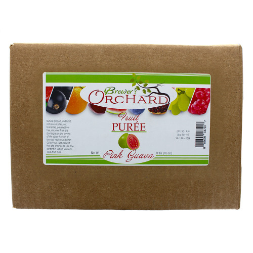 Brewer's Orchard Natural Pink Guava Fruit Puree 11 Lb
