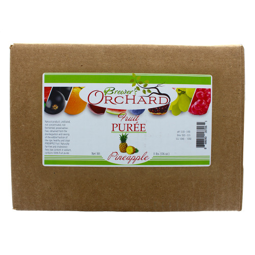 Brewer's Orchard Natural Pineapple Fruit Puree 11 Lb