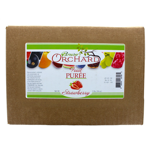 Brewer's Orchard Natural Strawberry Fruit Puree 11 Lb