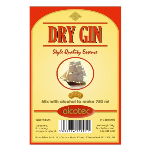 Alcotec Dry Gin Essence 20g