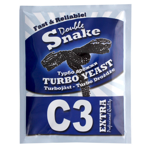 Double Snake C3 Home Brew High Alcohol Spirit Cider Turbo Yeast Makes 25 L