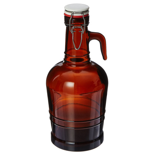 Growler with Glass Handle - Amber - 2 L