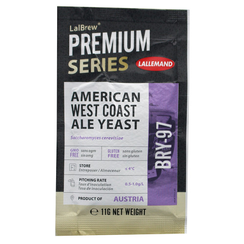 LalBrew Premium Series American West Coast Ale Yeast BRY-97 For Home Brewing 11g