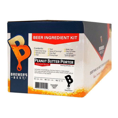 Brewer's Best Beer Ingredient Kit -5 Gallon (Peanut Butter Porter)