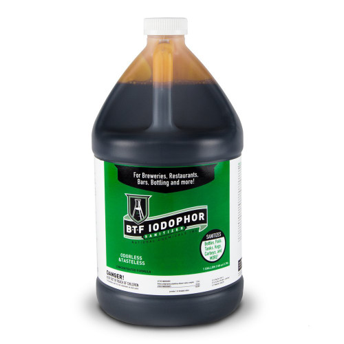 National Chemical BTF Iodophor Sanitizer Cleaner for Home Brew Kegs One Gallon