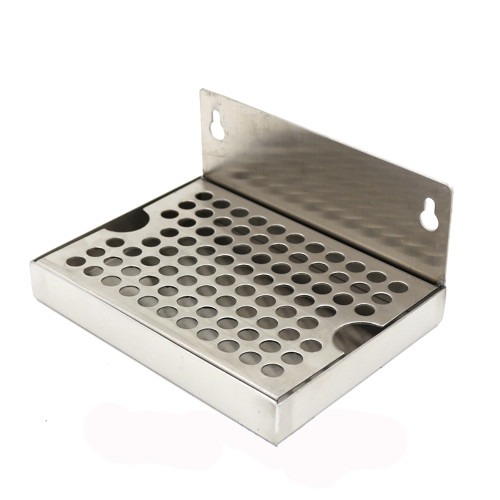 "Beer DRIP TRAY - STAINLESS STEEL (6""W x 4.625""L) NO DRAIN"