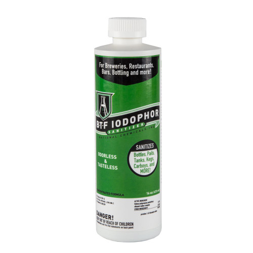 National Chemical BTF Iodophor Sanitizer Cleaner for Home Brew Kegs (16 Ounces)