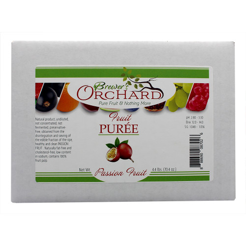 Brewer's Orchard Natural Passionfruit Fruit Puree 4.4lb