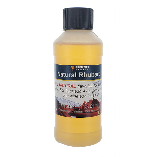 Natural Rhubarb Flavoring Extract - 4 oz.