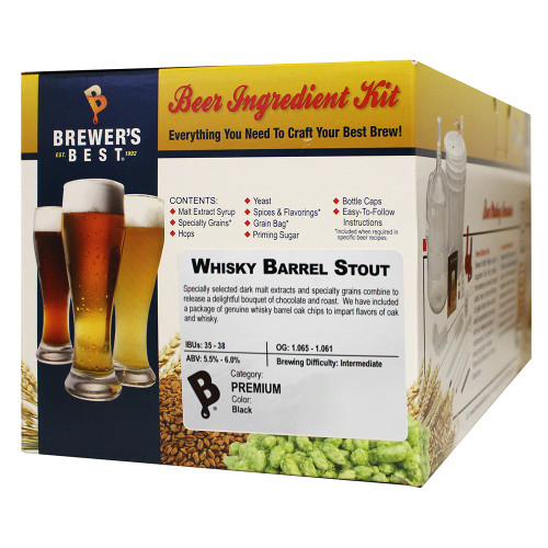 Brewer's Best Whiskey Barrel Stout Beer Kit - 5 Gallon