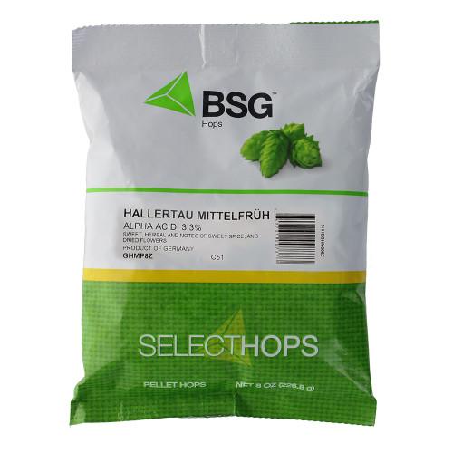 Hallertau Mittelfruh (GR) Hop Pellets 8 oz