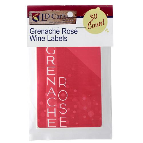 Grenache Rose - Wine Labels