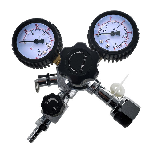 G-Force - Primary Dual Gauge Regulator With 5/16 Barb