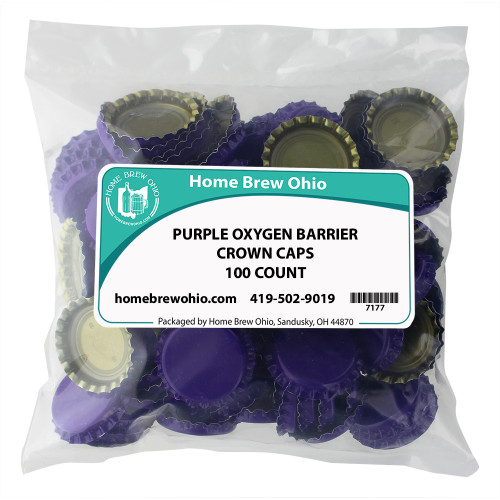 Home Brew Ohio Purple Crown Caps 100 count