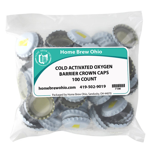 Home Brew Ohio Cold Activated Crown Caps 100 count
