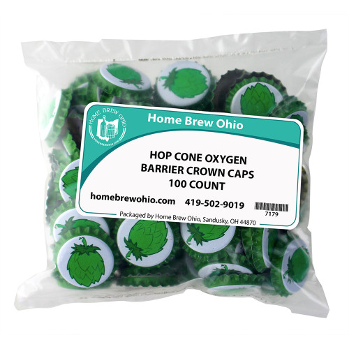 Home Brew Ohio Hop Cones Crown Caps 100 count