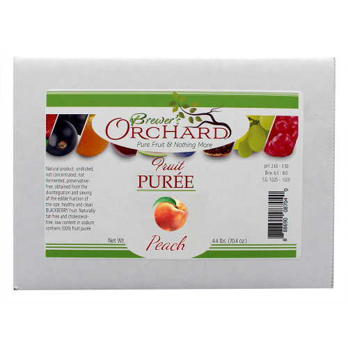 Brewer's Orchard Natural Peach Fruit Puree 4.4lb