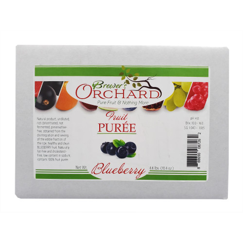 Brewer's Orchard Natural Blueberry Fruit Puree 4.4lb