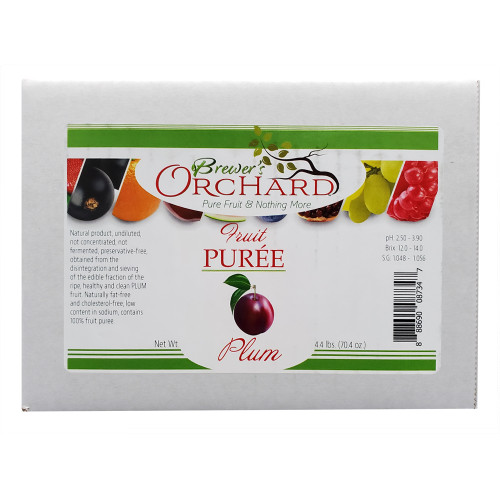 Brewer's Orchard Natural Plum Fruit Puree 4.4 Lb